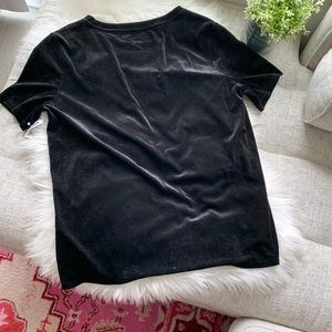 Old Navy Black Velvet T Shirt | Large